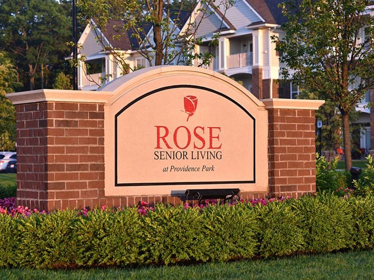 Property Signage at Rose Senior Living at Providence Park, Novi, MI