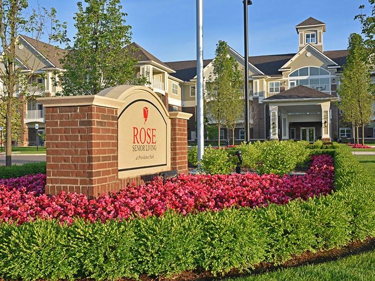 Elegant Property Signage at Rose Senior Living at Providence Park, Novi