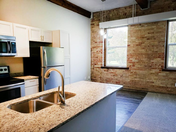 apts with exposed brick walls in Grand Ledge MI