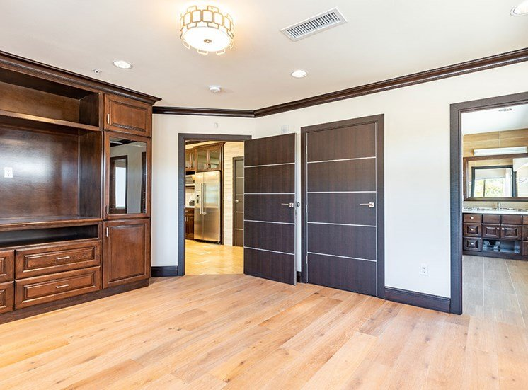 Faux Wood Flooring at Hollywood Hills, A Pacifica Senior Living Community, Los Angeles