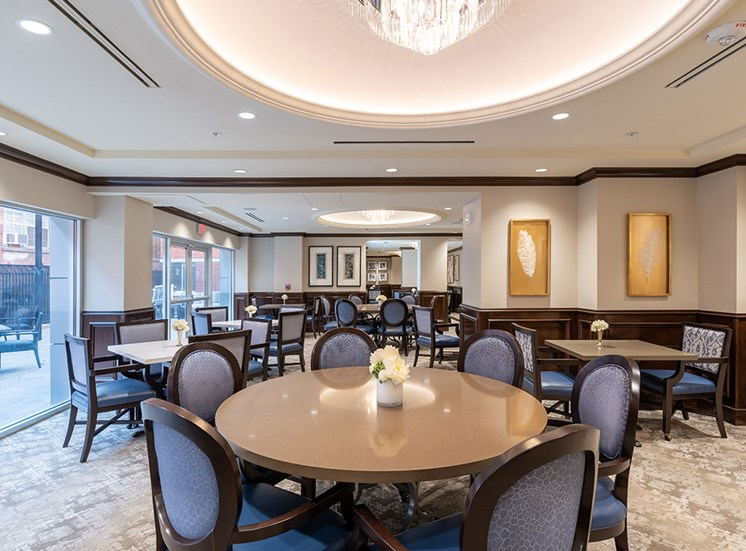 Spacious Dining Hall at Hollywood Hills, A Pacifica Senior Living Community, California, 90028
