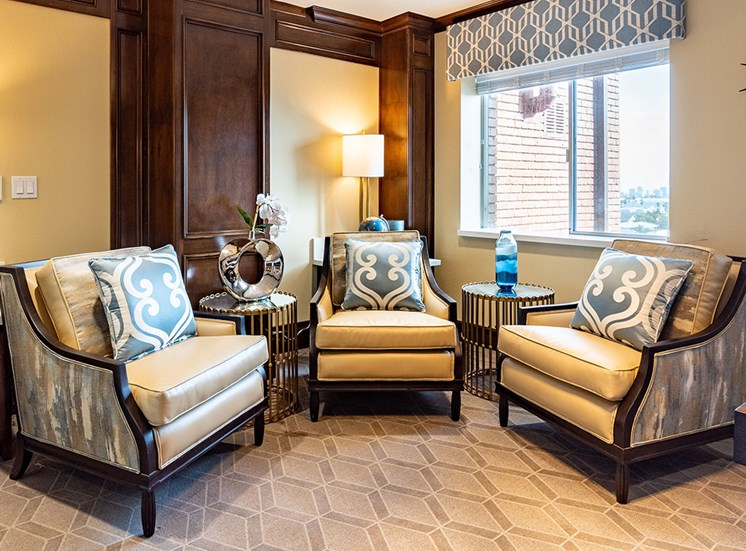 Extra Comfortable Sofa Chair at Hollywood Hills, A Pacifica Senior Living Community, Los Angeles, 90028