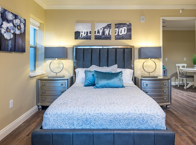 Well Appointed Bedroom at Hollywood Hills, A Pacifica Senior Living Community, Los Angeles