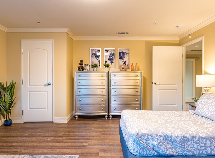 Well Decorated Bedroom at Hollywood Hills, A Pacifica Senior Living Community, Los Angeles, CA